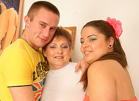 Sizzling housewife in hot threesome