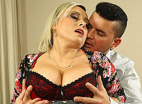 Big breasted housewife fucking and sucking