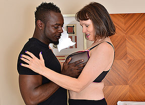 Horny British missis cant get enough of her boyfriends big black cock