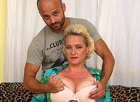 Big titted missis getting her fill