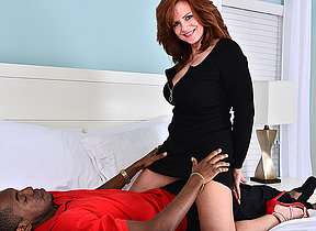 Hot MILF fucking and sucking a big black dick