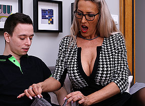 Horny German MILF teaching a toy boy her dirty ways