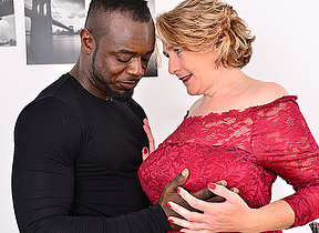 Horny mature Camilla is in for a big hard black dick