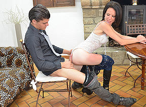 Female French teacher gets fucked and fisted by her student