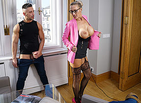 German Milf Lana Vegas sucks a big cock and gets her pussy thumped