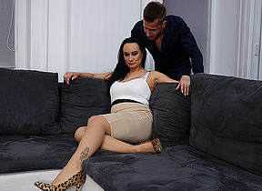 Horny Milf enjoys her toyboys big cock
